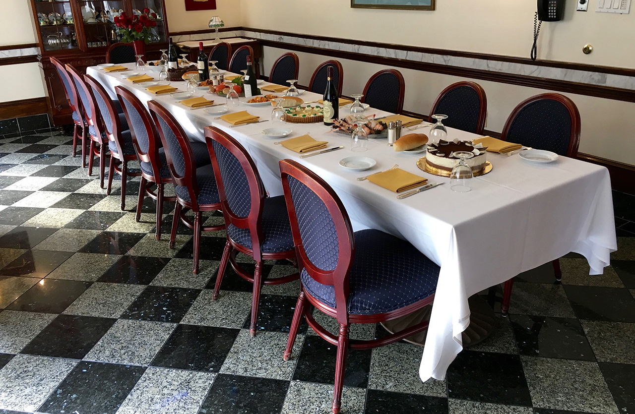 Private dining in Washington DC at Ristorante La Perla in Georgetown